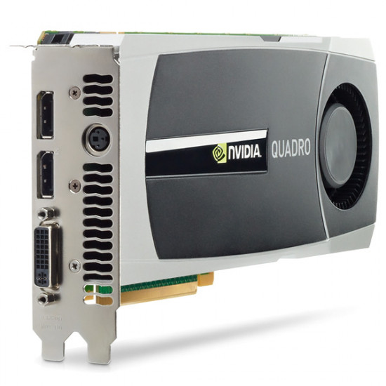 Renewed GF- NVIDIA® QUADRO® 6000: 6GB of GDDR5 GPU memory, 448 CUDA Parallel processing Cores